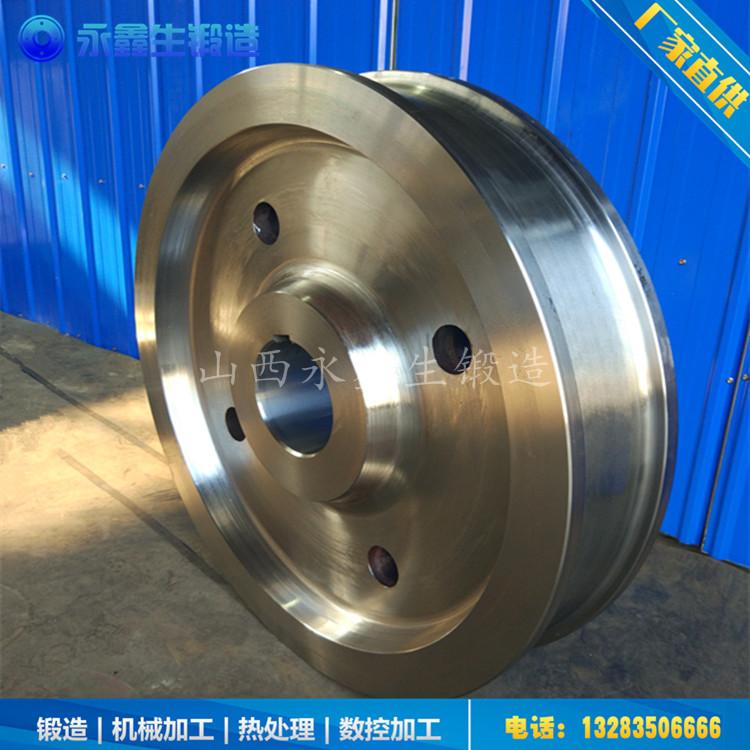 废钢料蓝车车轮锻件